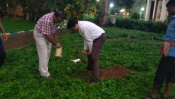 Tree Planting activity on occasion of World Environment day by Mr.A.Madhukar & Mr.Arun.R